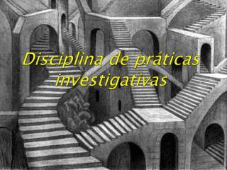 Disciplina de práticas investigativas