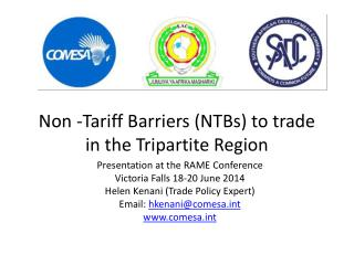 Non -Tariff Barriers (NTBs) to trade in the  T ripartite  R egion