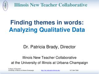 Finding themes in words:  Analyzing Qualitative Data