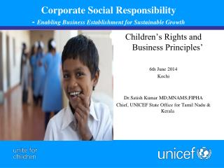 Corporate Social  Responsibility   -  Enabling Business Establishment for Sustainable Growth