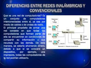 DIFERENCIAS ENTRE REDES INALÁMBRICAS Y CONVENCIONALES