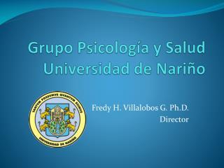 Grupo Psicología y Salud Universidad de Nariño