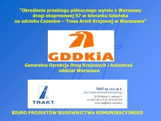 Generalna Dyrekcja Drog Krajowych i Autostrad  oddział Warszawa