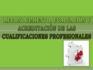 RECONOCIMIENTO, EVALUACIÓN Y ACREDITACIÓN DE LAS CUALIFICACIONES PROFESIONALES