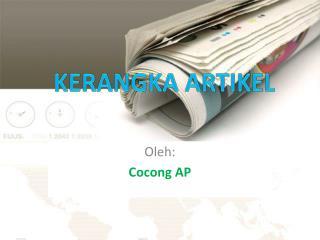 Oleh :  Cocong  AP