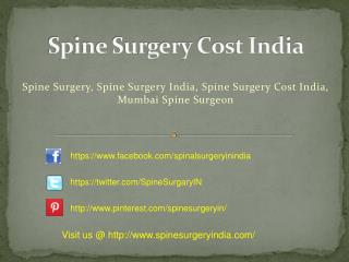 Spine Surgery  India Cost