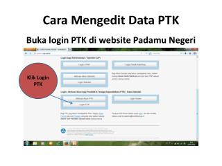 Cara Mengedit Data PTK