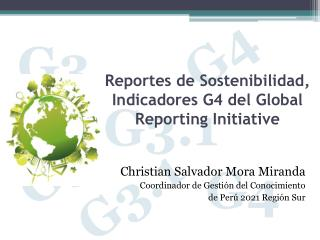 Reportes de Sostenibilidad, Indicadores G4 del Global Reporting Initiative