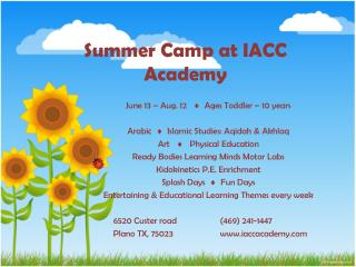Summer  Camp  at  IACC  Academy