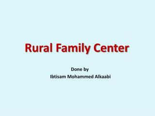 Rural Family Center