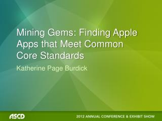 Mining Gems: Finding Apple Apps that Meet Common Core Standards
