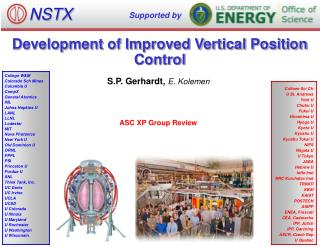 Development of Improved Vertical Position Control