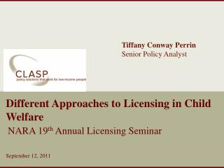 Different Approaches to Licensing in Child Welfare