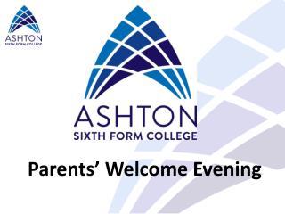 Parents' Welcome Evening