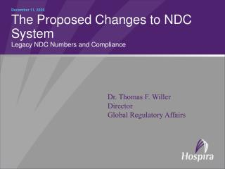 The Proposed Changes to NDC System