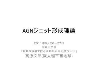 AGN ジェット形成理論