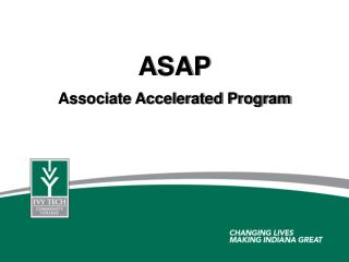 ASAP Associate Accelerated Program