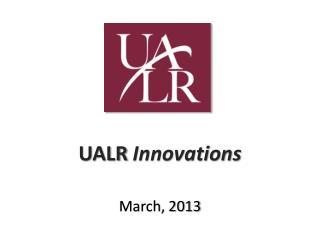 UALR  Innovations