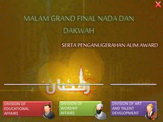 MALAM GRAND FINAL NADA DAN DAKWAH