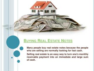 Buying Mortgage Notes
