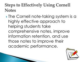 Steps  to Effectively Using Cornell Notes