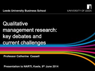 Qualitative management research: key debates and current challenges