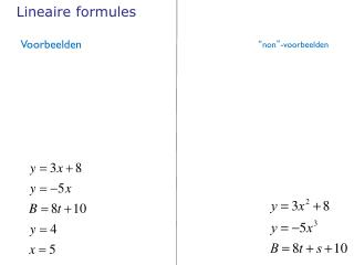 Lineaire formules