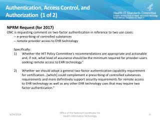 Authentication, Access Control, and Authorization   (1 of 2)