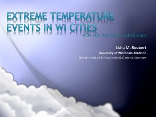 Extreme Temperature events in  wi  cities