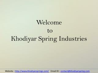 Die Springs | Die Springs Manufacturers | Die Springs