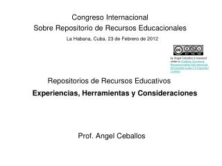 Repositorios de Recursos Educativos