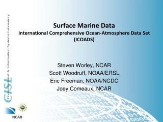 Surface Marine Data International Comprehensive Ocean-Atmosphere Data Set (ICOADS)