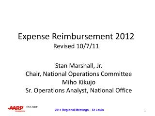 Expense Reimbursement 2012 Revised 10