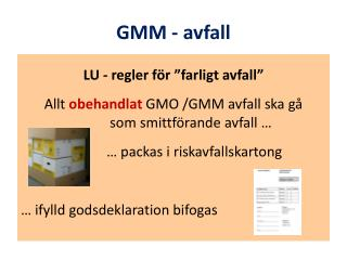 GMM - avfall