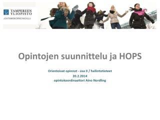Opintojen suunnittelu ja HOPS