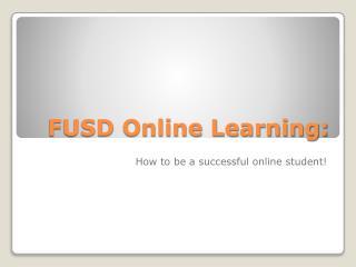 FUSD Online Learning: