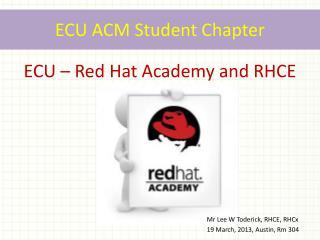 ECU ACM Student Chapter