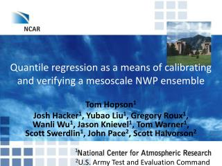 Quantile  regression as a means of calibrating and verifying a  mesoscale NWP ensemble