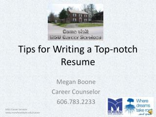 Tips for Writing a Top-notch Resume
