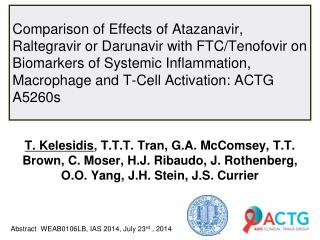 Abstract  WEAB0106LB, IAS  2014,  July  23 rd  , 2014