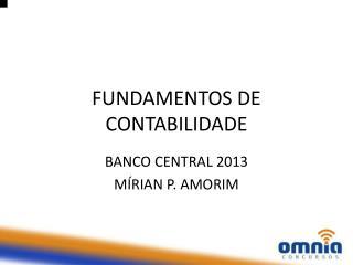 FUNDAMENTOS DE CONTABILIDADE