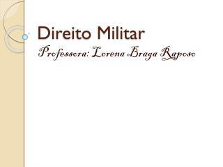 Direito Militar