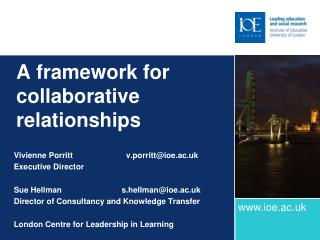 A framework for collaborative relationships
