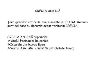 GRECIA ANTIC Ă