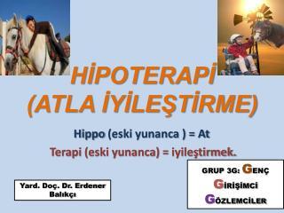 HİPOTERAPİ (ATLA İYİLEŞTİRME)