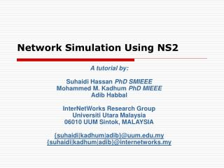 Network Simulation Using NS2
