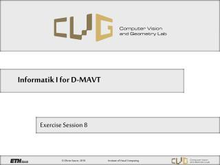 Informatik I for D-MAVT