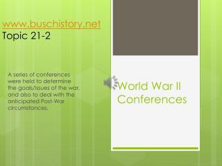 World War II Conferences