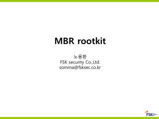 MBR rootkit