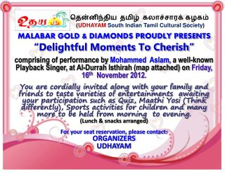 "MALABAR GOLD & DIAMONDS PROUDLY PRESENTS ""Delightful Moments To Cherish"""